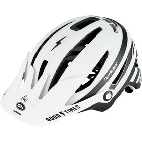 Bell Sixer MIPS Fietshelm, matte white/black fasthouse